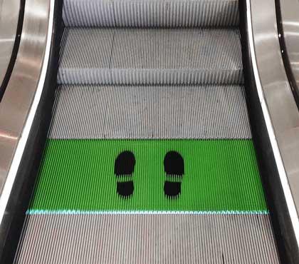 2m Social Distancing Elevator Steps